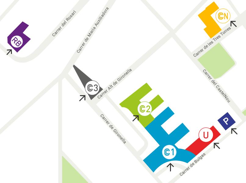 Mapa ubicación Clínica Corachan