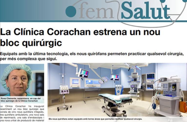 Clínica Corachan estrena un nou bloc quirúrgic
