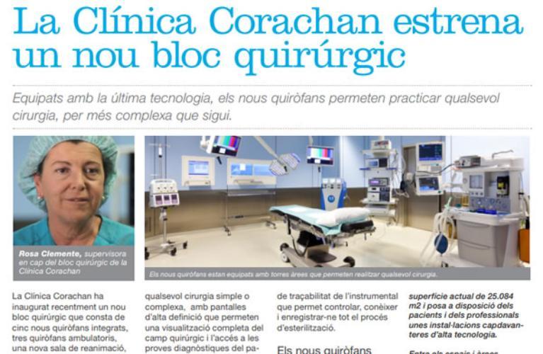 Clínica Corachan estrena bloc quirúrgic