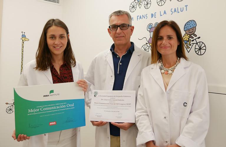 El equipo de Ortopedia Pediátrica, premiado por su investigación en técnicas de corrección de deformidades esqueléticas en niños Noticia